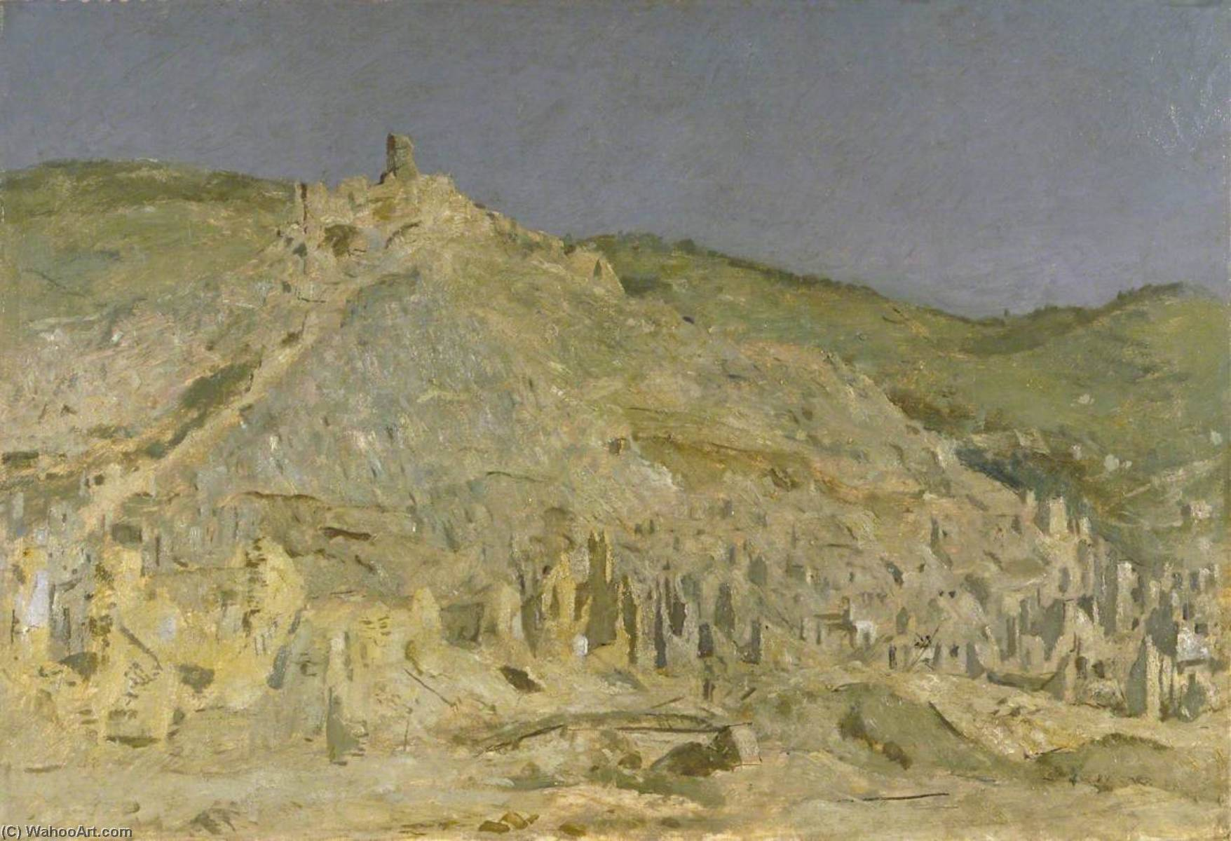 Cassino, Oil On Canvas by Henry Marvell Carr