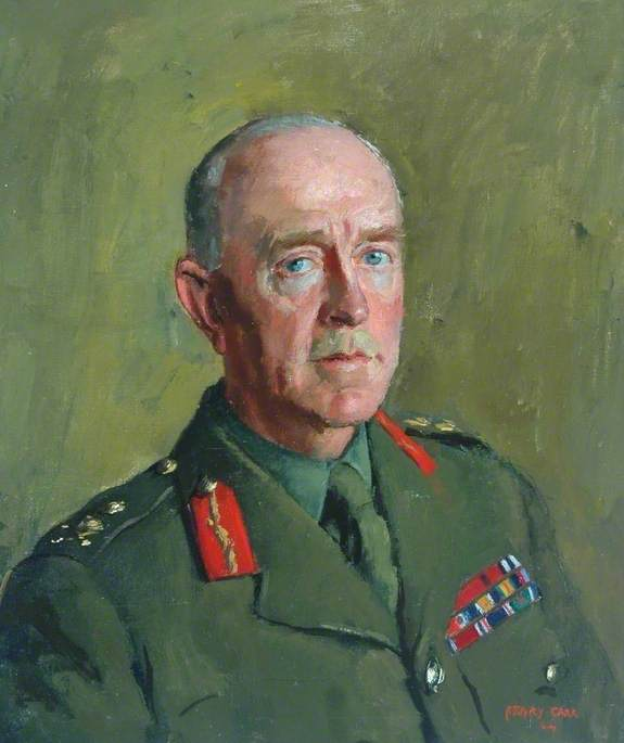 General Sir Harold Franklyn, KCB, DSO, MC, Oil On Canvas by Henry Marvell Carr