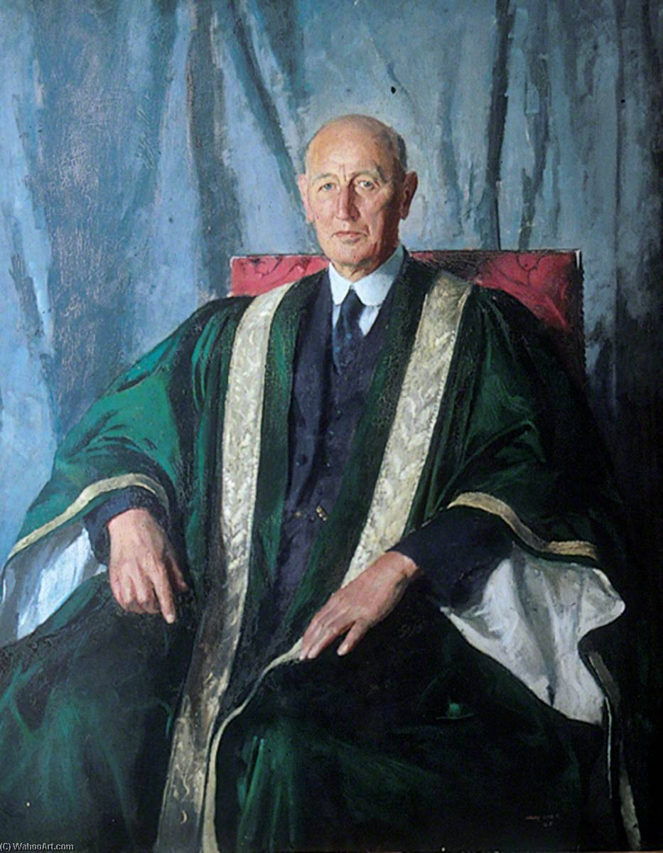 Bernard Mouat Jones (1882–1953), DSO, MA, DCL, LLD, Vice Chancellor of the University of Leeds (1938–1948), Oil On Canvas by Henry Marvell Carr