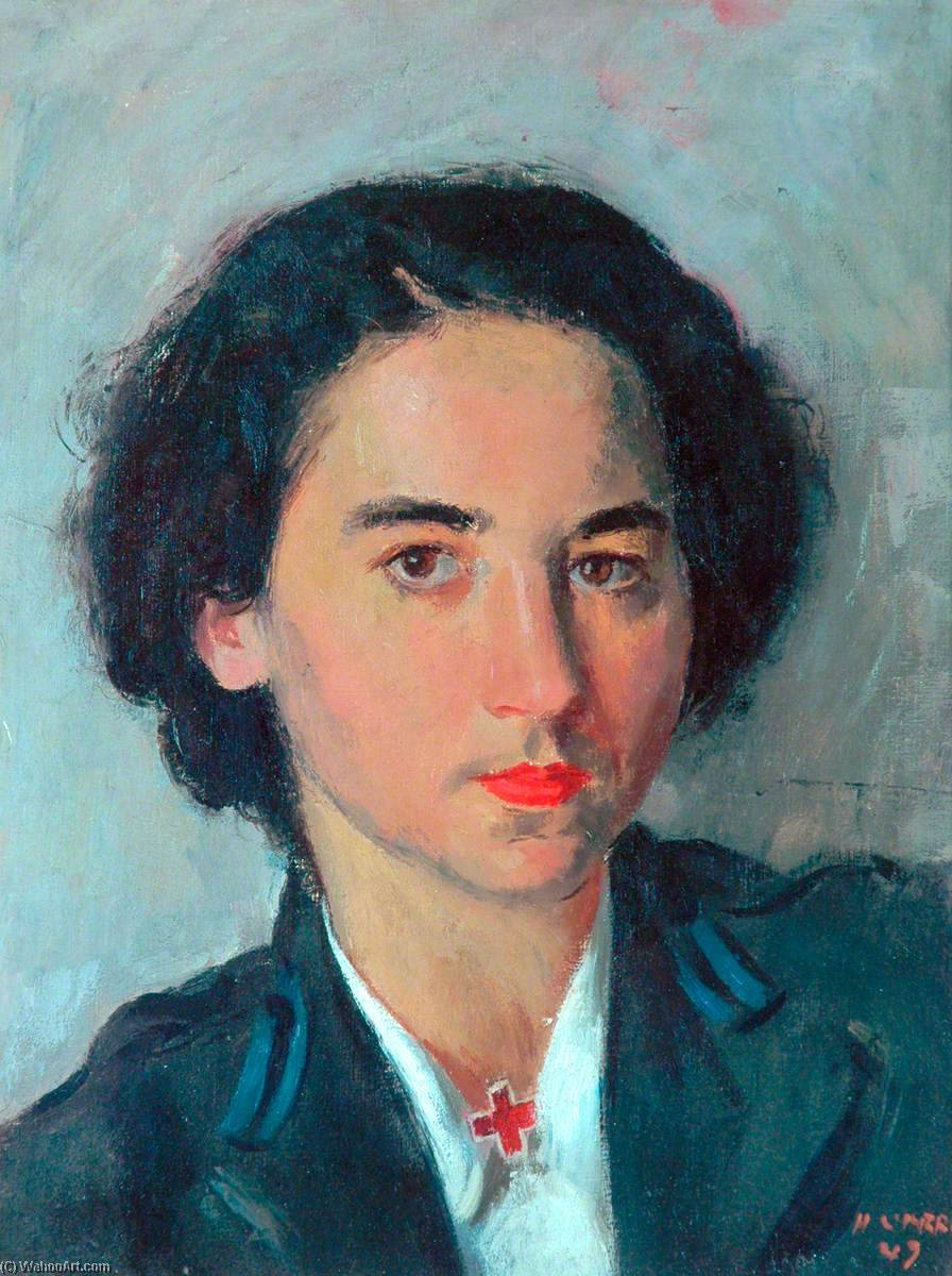 Miss Mary Sternberg, American Red Cross, Oil On Canvas by Henry Marvell Carr