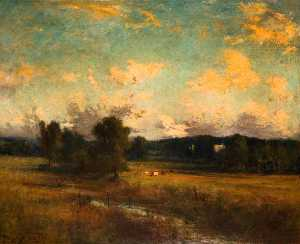 Joseph Alfonso Toft - Cattle in Landscape, Trentham, Stoke on Trent