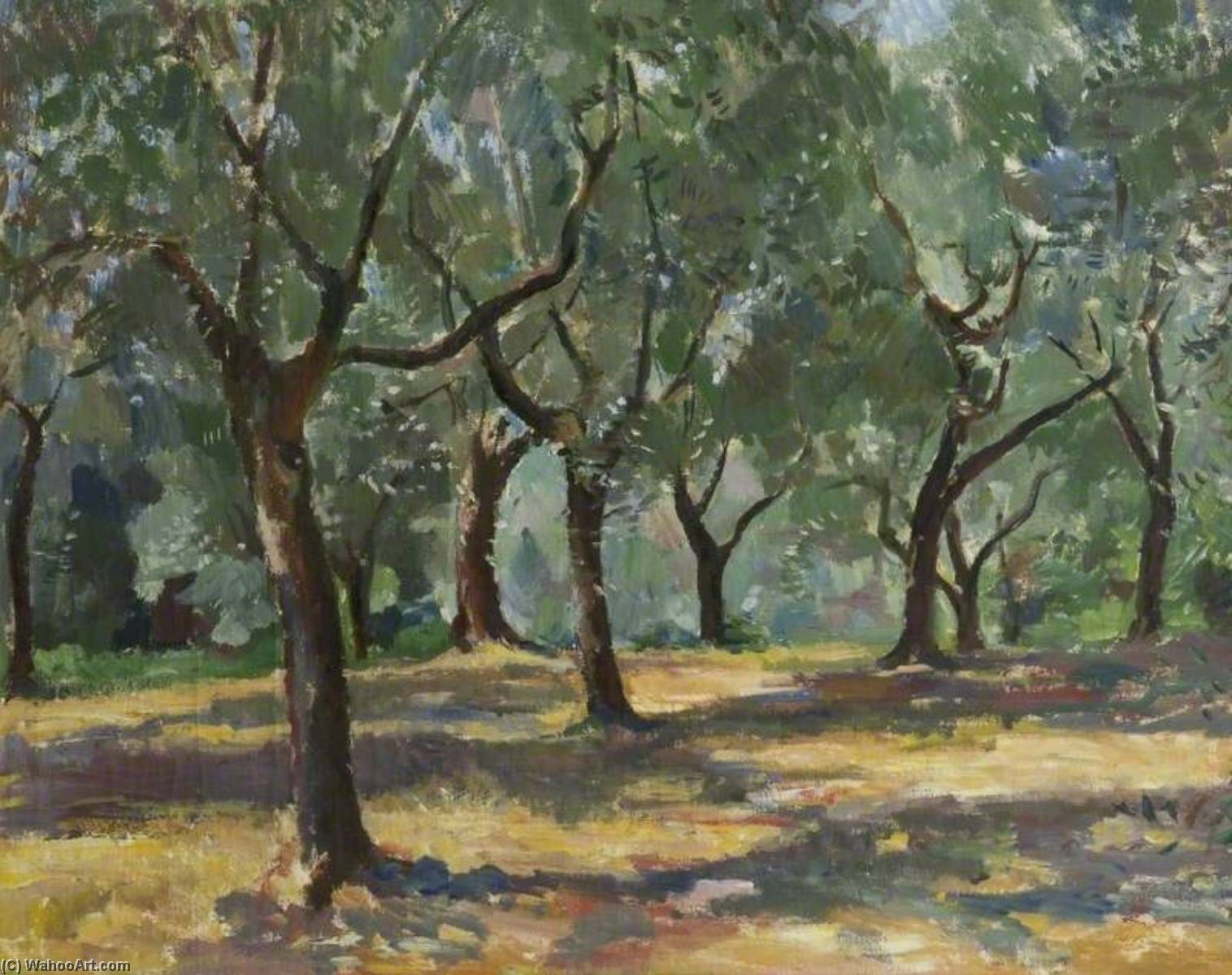 Wood, Hungary, Oil On Canvas by Theodor Kern