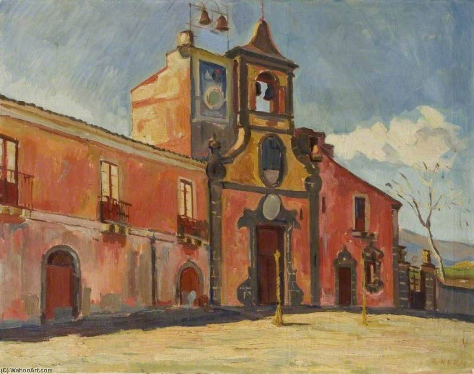 Catania, Sicily, Oil On Canvas by Theodor Kern