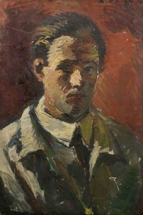 Self Portrait, Oil On Canvas by Theodor Kern