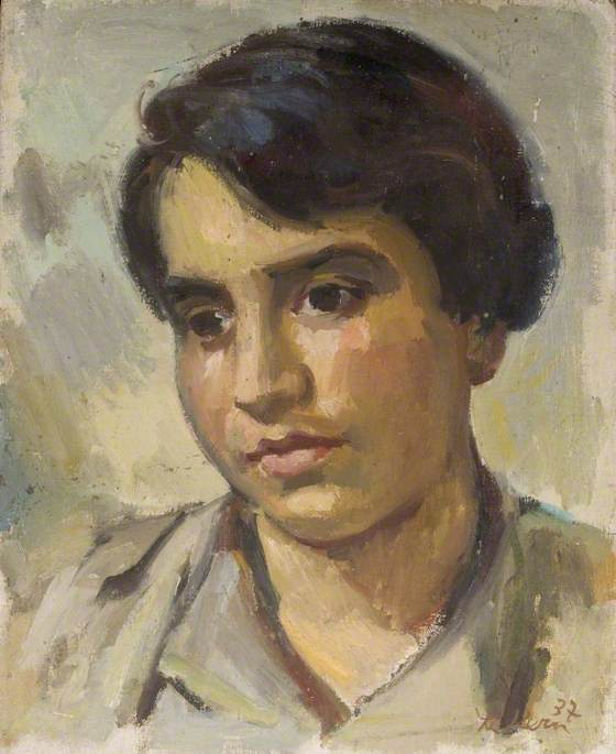 Portrait of a Young Man, Oil On Canvas by Theodor Kern