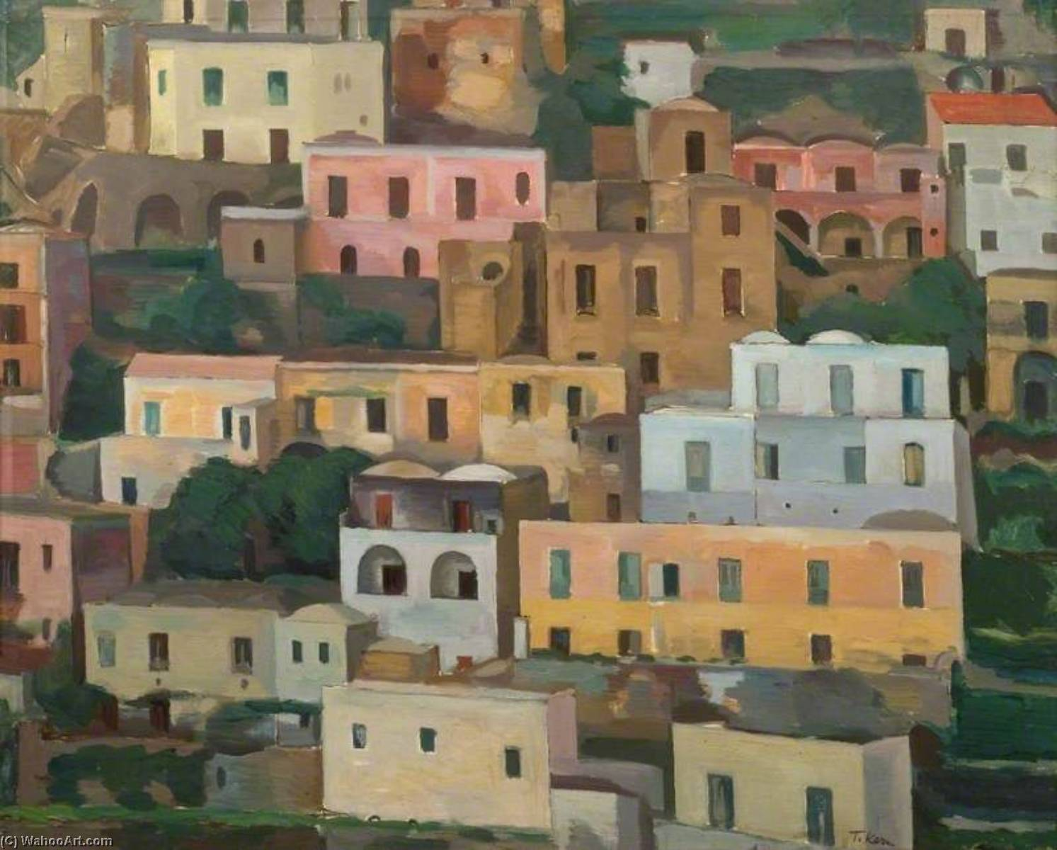 Positano, Italy, Oil On Canvas by Theodor Kern
