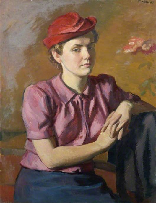 Portrait of a Belgian Girl, 1941 by Theodor Kern | WahooArt.com