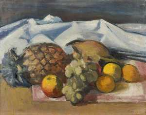 Theodor Kern - Still Life with a Pineapple