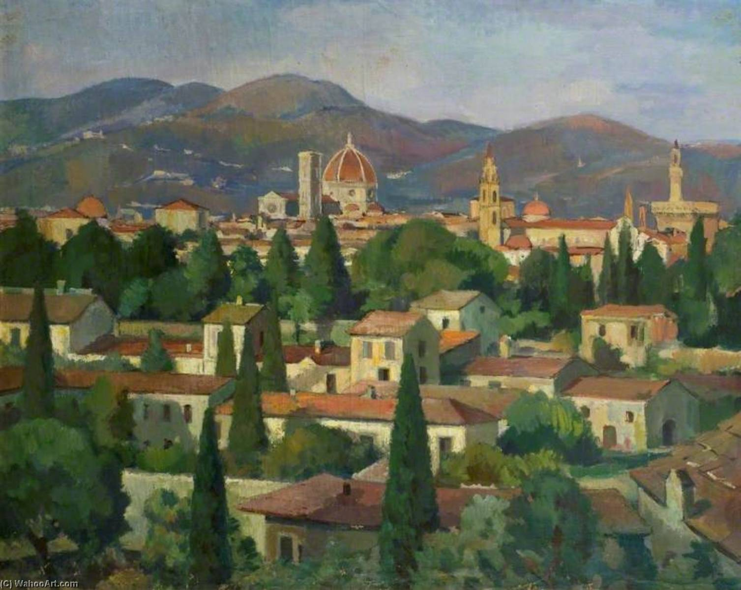 View of Florence, Italy by Theodor Kern | Art Reproduction | WahooArt.com