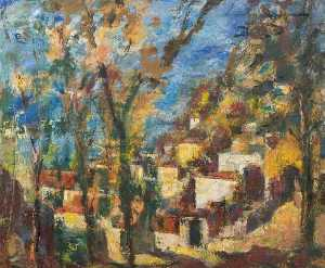 Theodor Kern - Houses on a Hillside