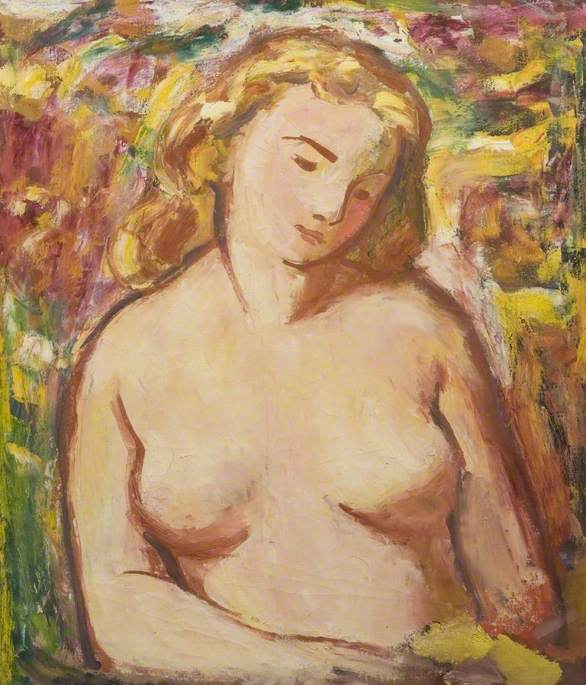 Nude with Golden Hair Holding a Letter by Theodor Kern | Painting Copy | WahooArt.com