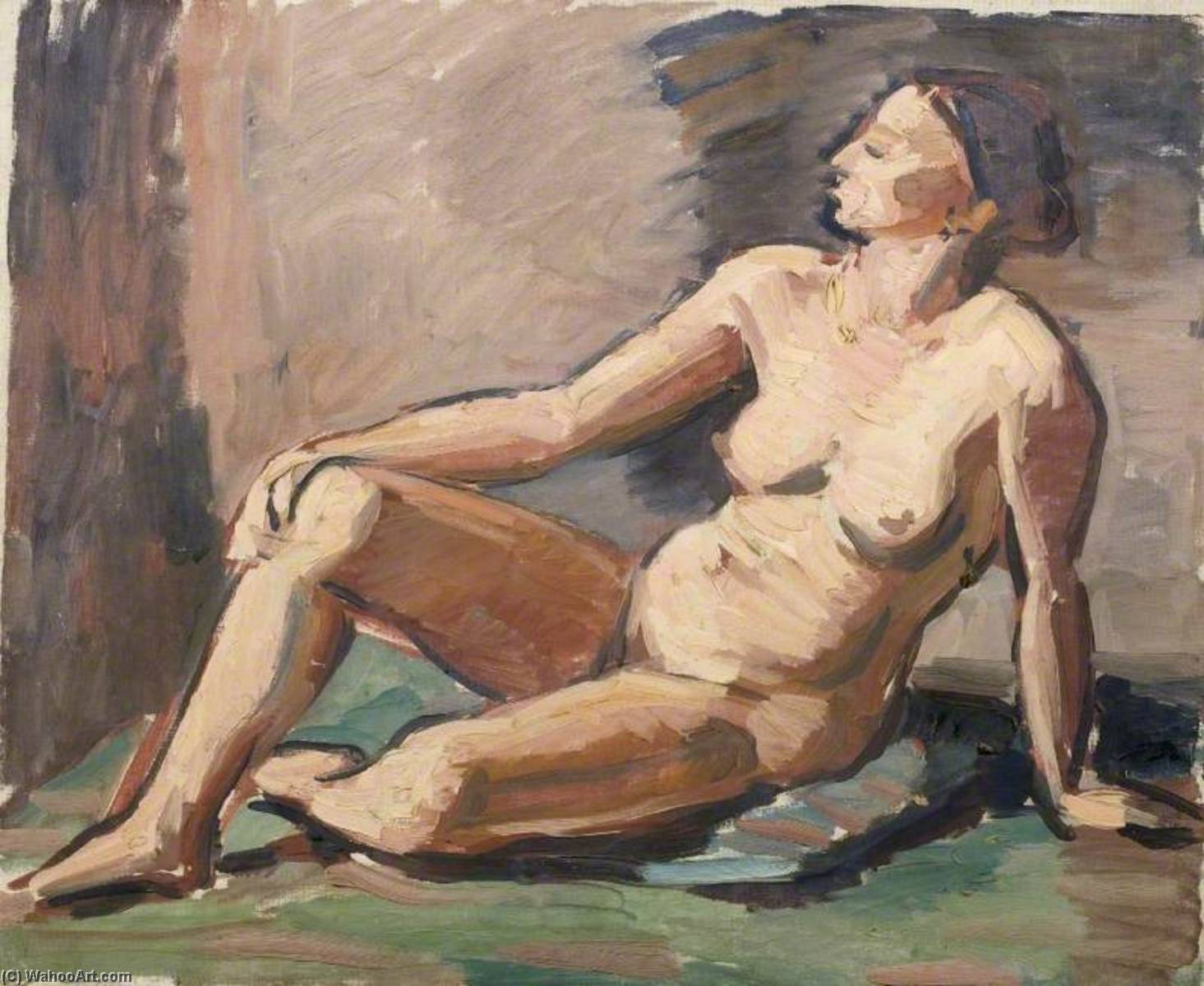 Reclining Nude, Oil On Canvas by Theodor Kern