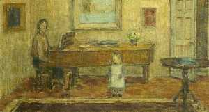 Alan Francis Clutton Brock - At the Piano