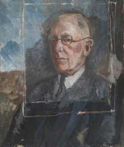 Alan Francis Clutton Brock - Study for a Portrait of a Man Wearing Spectacles