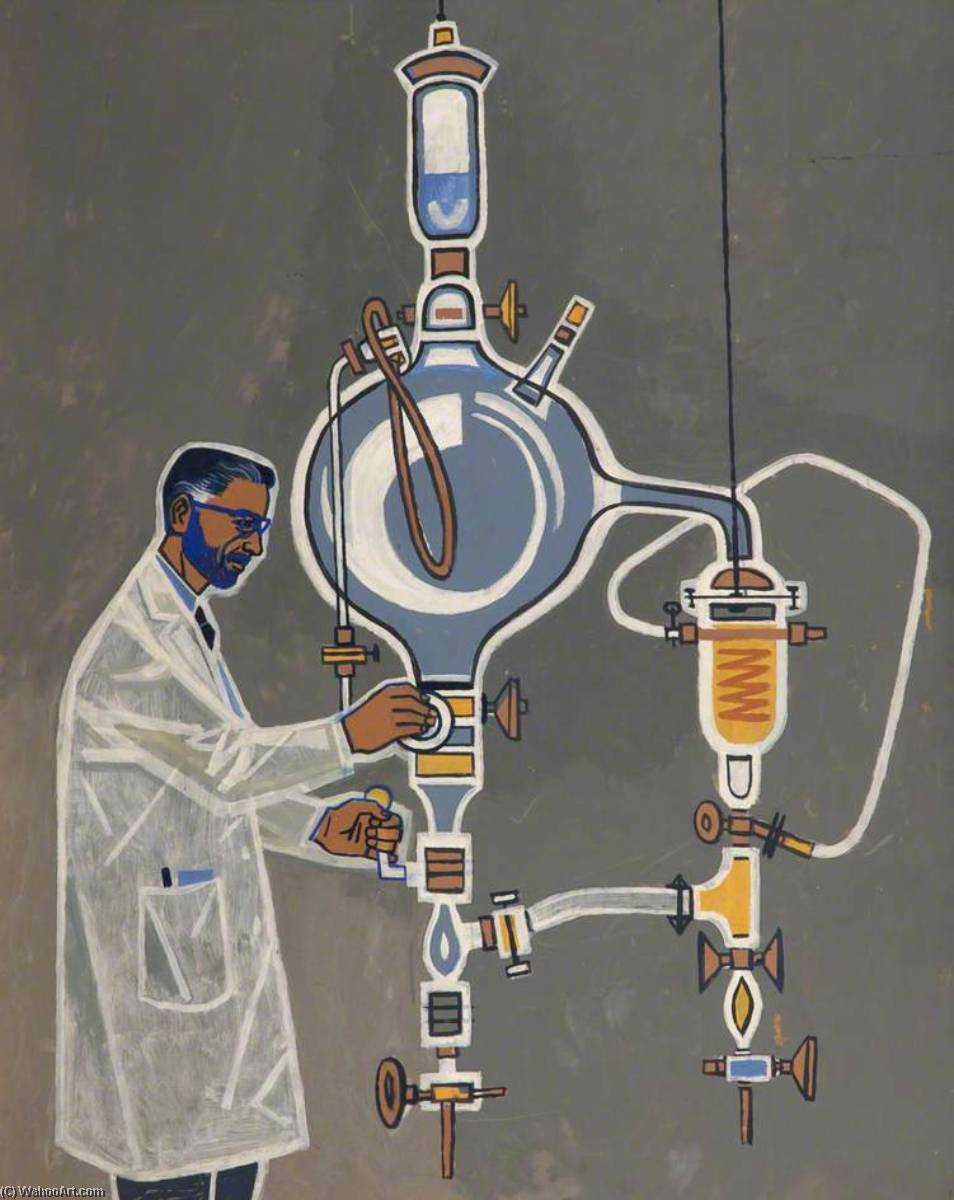 Bearded Scientist by Cliff Rowe | Museum Quality Reproductions | WahooArt.com