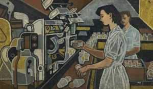 Cliff Rowe - Woman in Bottling Plant