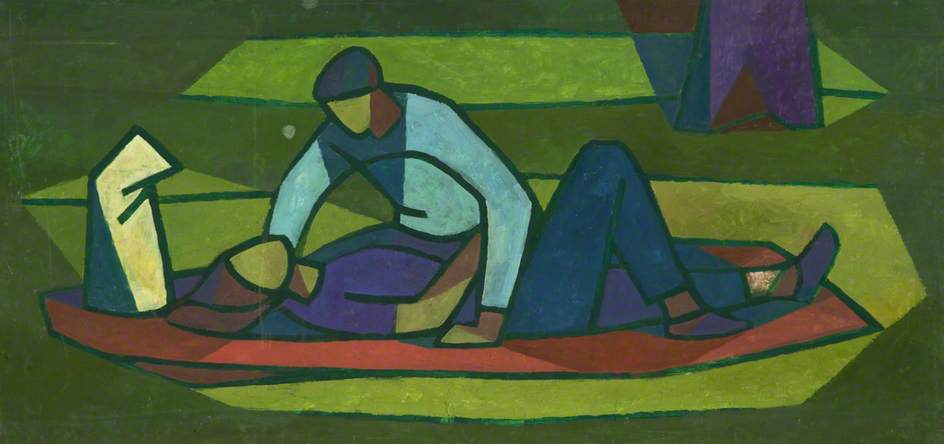 Man Leaning Over Woman by Cliff Rowe | Museum Quality Reproductions | WahooArt.com