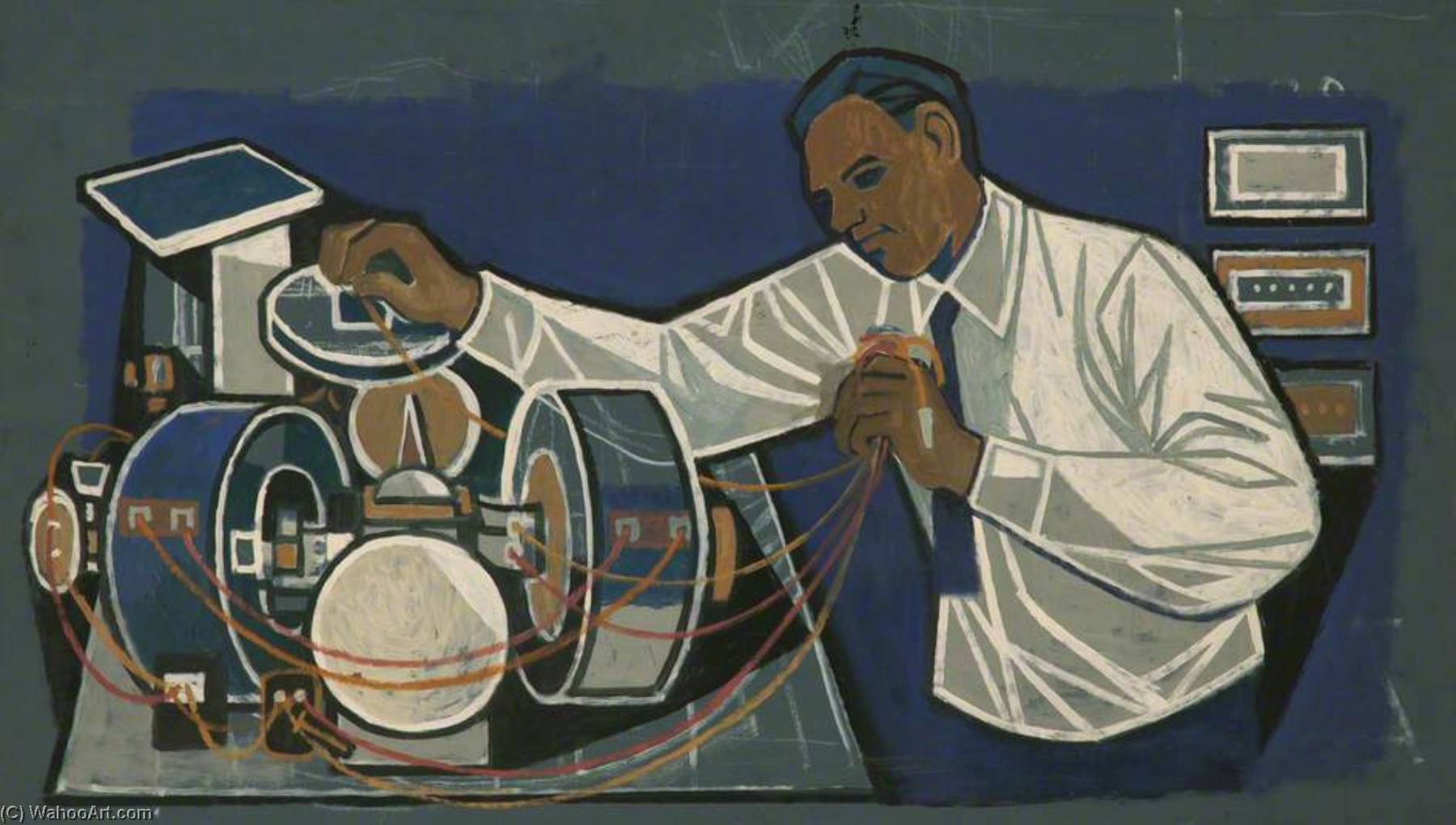 Electrical Engineer by Cliff Rowe | Museum Quality Reproductions | WahooArt.com