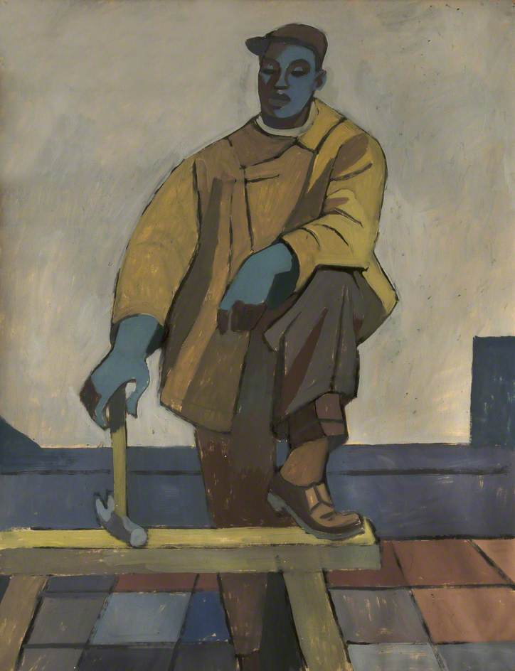 Roofer by Cliff Rowe | Museum Quality Reproductions | WahooArt.com