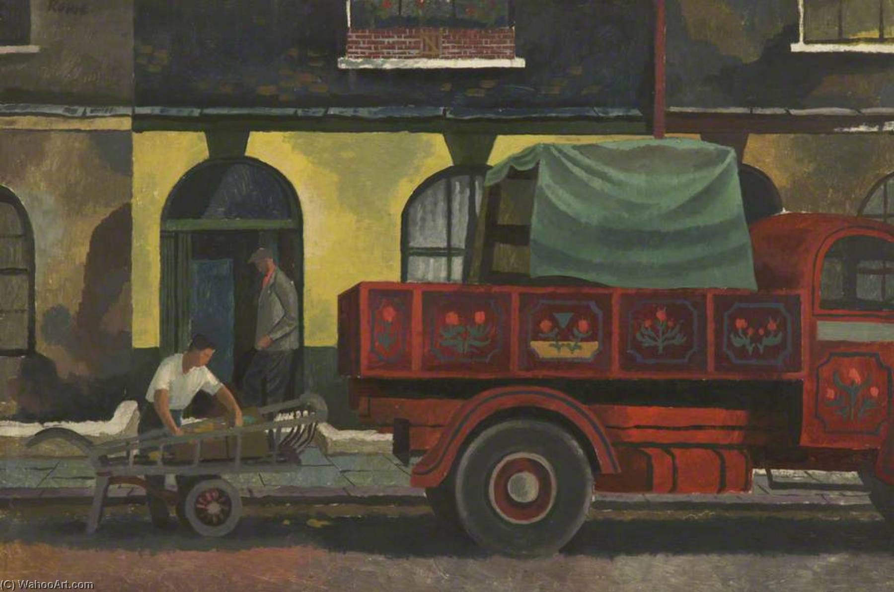 Removal Men, Oil by Cliff Rowe