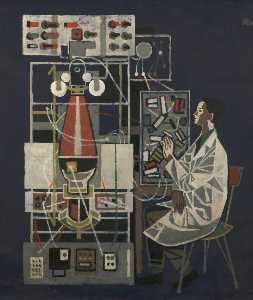 Order Museum Quality Reproductions : Scientist at Lab Bench by Cliff Rowe | WahooArt.com