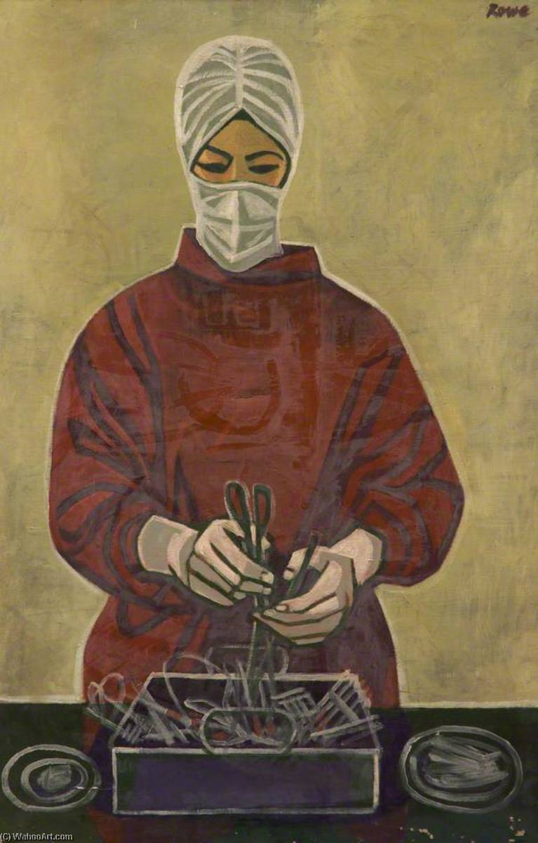 Operating Theatre Nurse by Cliff Rowe | Painting Copy | WahooArt.com