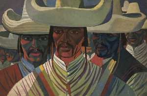 Order Museum Quality Copies | Mexican Guerrillas by Cliff Rowe | WahooArt.com
