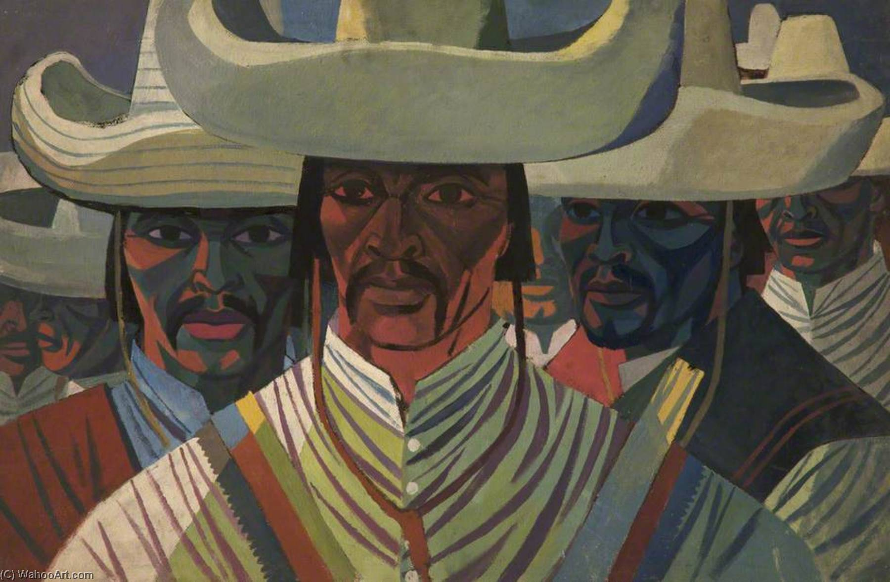Mexican Guerrillas, Oil by Cliff Rowe