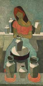 Cliff Rowe - Woman Potter