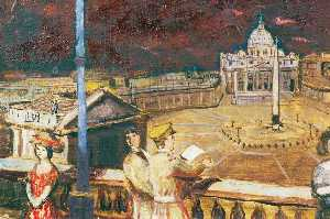 Carel Victor Morlais Weight - Between Two Fires A Dream (St Peter's, Rome)