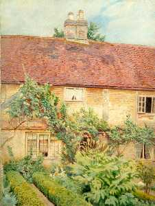 Ernest C Christie - Exterior View of Unidentified Cottage near Bletchingley, Surrey