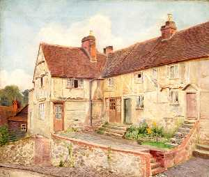 Ernest C Christie - Streeters, Terrace and Huddle Cottages, High Street, Oxted, Surrey