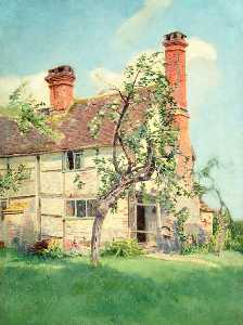Ernest C Christie - Exterior View of Cottage at Mayes Green, Surrey