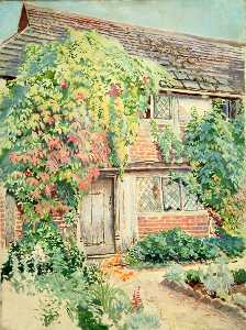 Ernest C Christie - Exterior of Cottage at Forest Green, Surrey