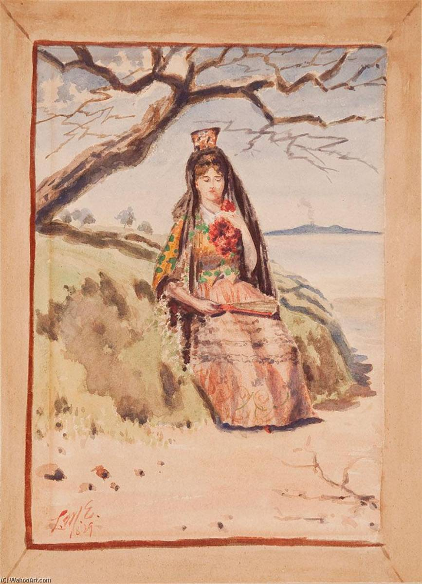 Spanish Lady, Watercolour by Louis Michel Eilshemius (1864-1941, United States)