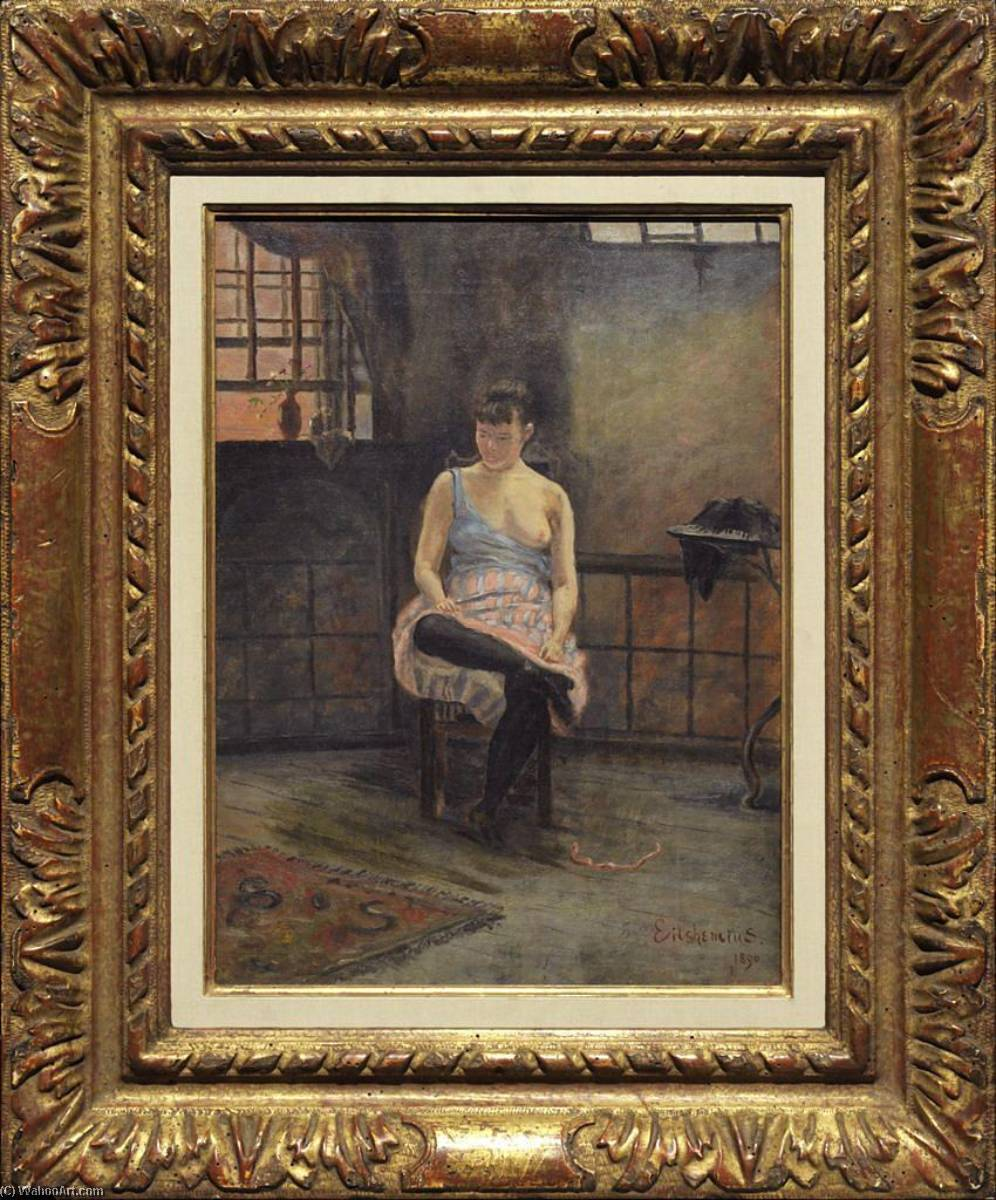 Figure Seated, Oil On Canvas by Louis Michel Eilshemius (1864-1941, United States)