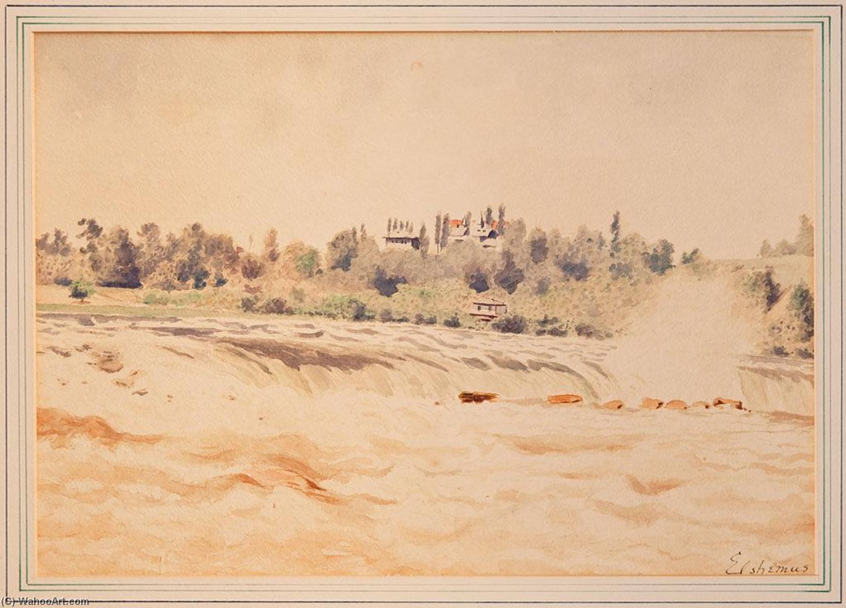 Niagra Rapids, Watercolour by Louis Michel Eilshemius (1864-1941, United States)