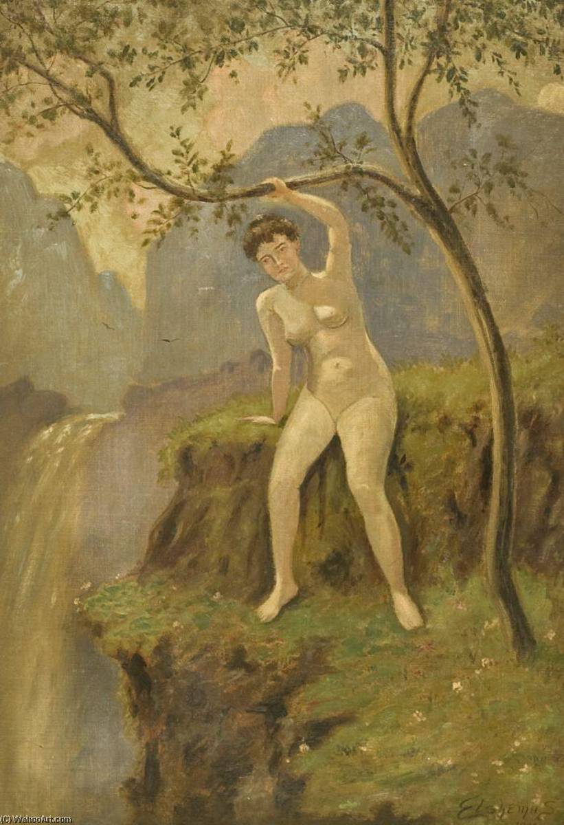 Nude in Landscape, Canvas by Louis Michel Eilshemius (1864-1941, United States)