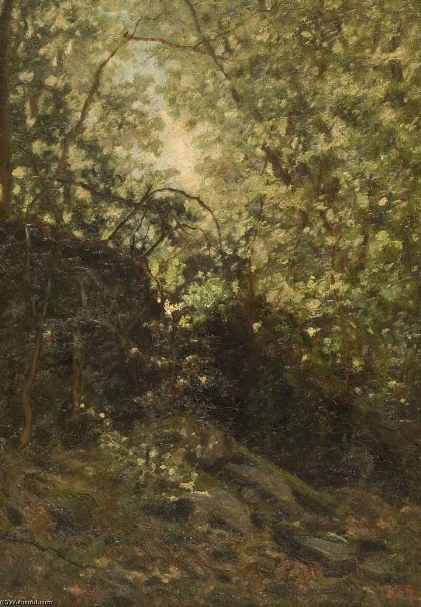 Night Through Forest, 1889 by Louis Michel Eilshemius (1864-1941, United States) | Oil Painting | WahooArt.com