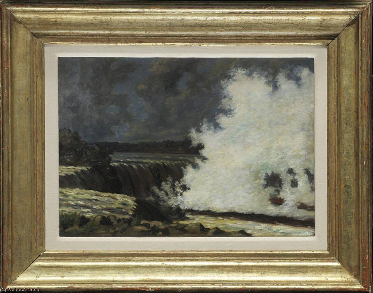 Waterfalls, Oil On Canvas by Louis Michel Eilshemius (1864-1941, United States)