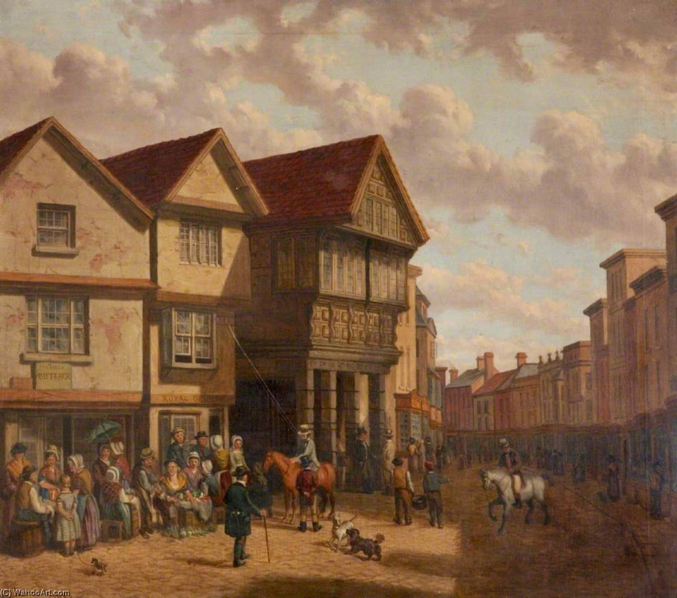 Old Guildhall, Barnstaple, Devon, Oil On Canvas by Joseph Kennedy