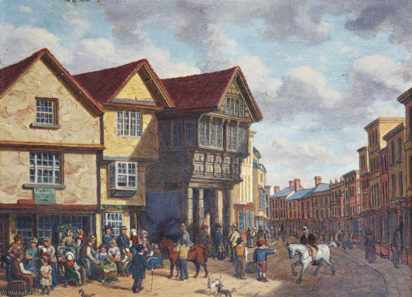 The Old Guildhall, Barnstaple, Devon by Joseph Kennedy | Painting Copy | WahooArt.com