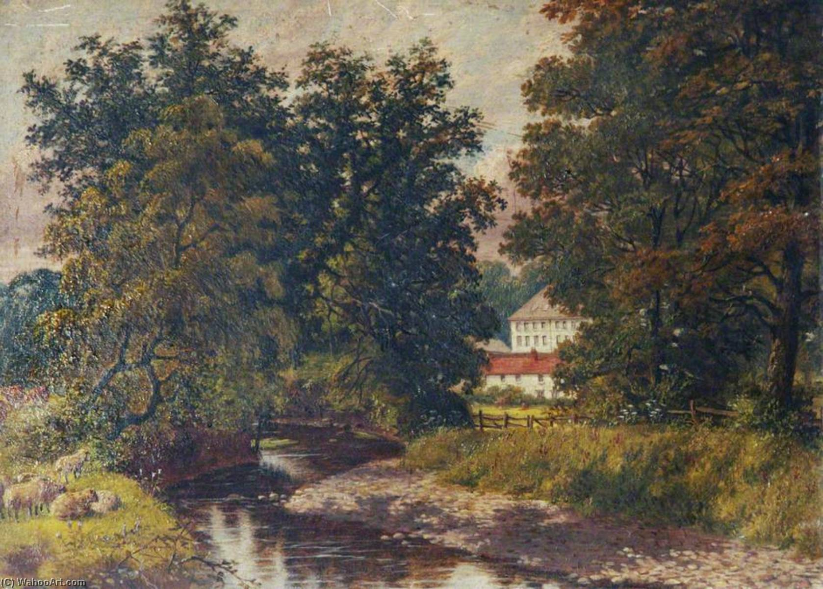 Order Famous Paintings Reproductions : Raleigh Mill from the River Yeo by Joseph Kennedy | WahooArt.com