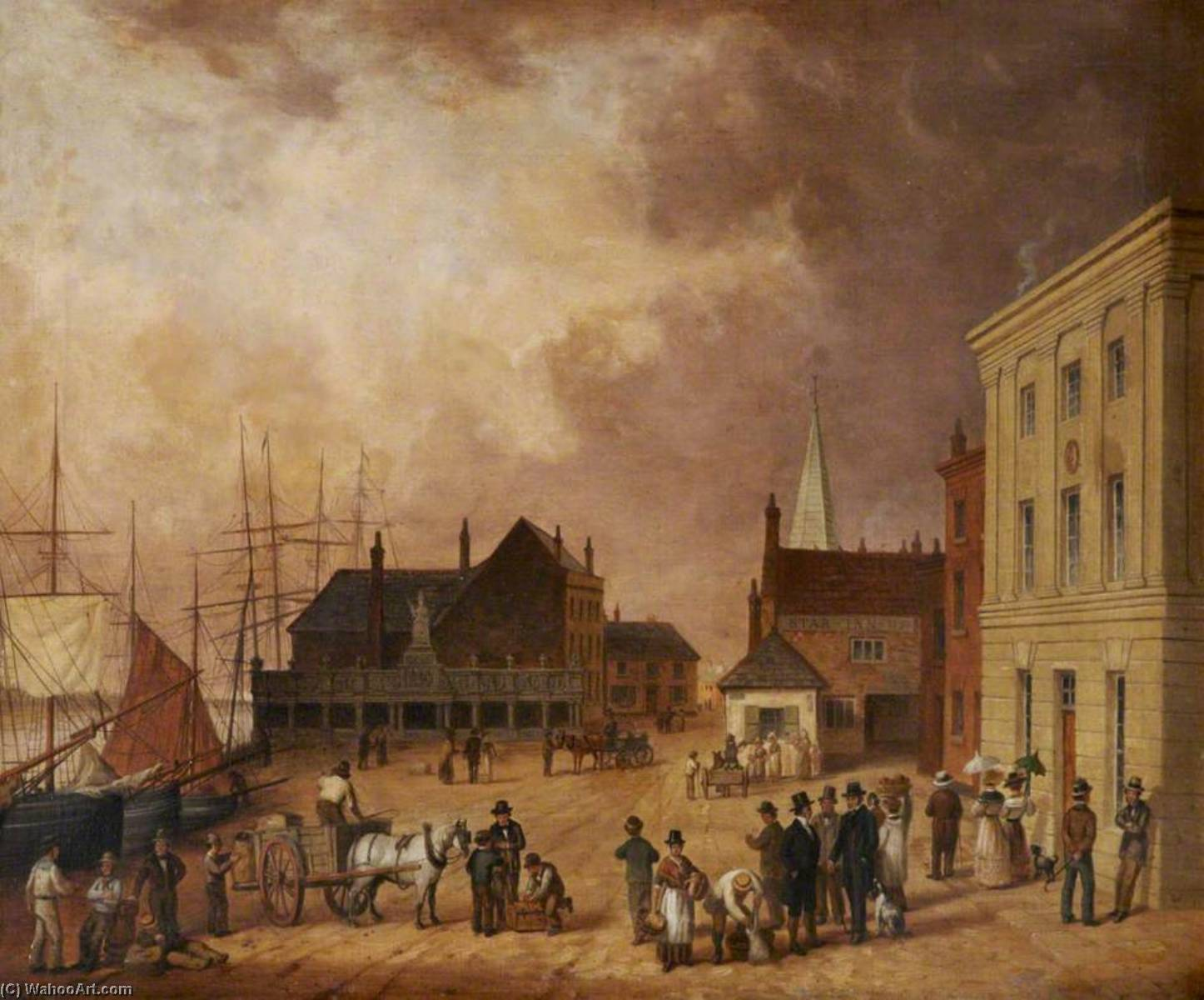 Order Museum Quality Reproductions : The Strand, Barnstaple, Devon by Joseph Kennedy | WahooArt.com
