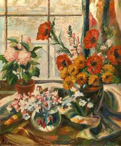 Orlando Greenwood - Flowers on a Windowsill
