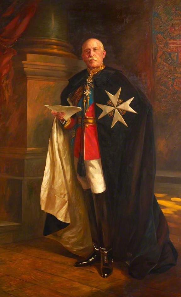 HRH the Duke of Connaught, Oil On Canvas by Edward Caruna Dingli