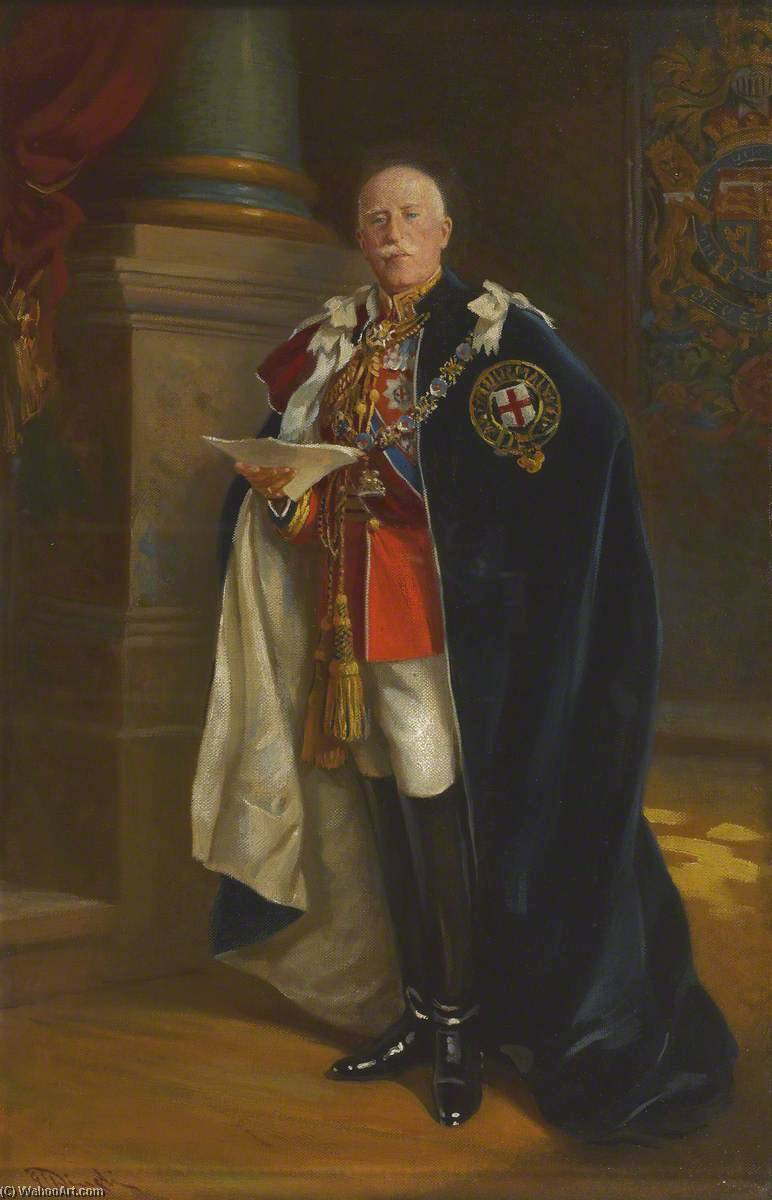 Field Marshal HRH the Duke of Connaught (1850–1942), KG, Grand Prior of the Order of St John of Jerusalem in the British Realm, 1927 by Edward Caruna Dingli | WahooArt.com