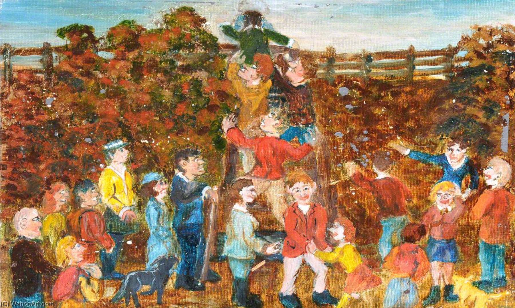 Helping Hands, Cancer Research Sponsored Walk, Buckley, 1st October 1994, Oil On Canvas by James Bentley