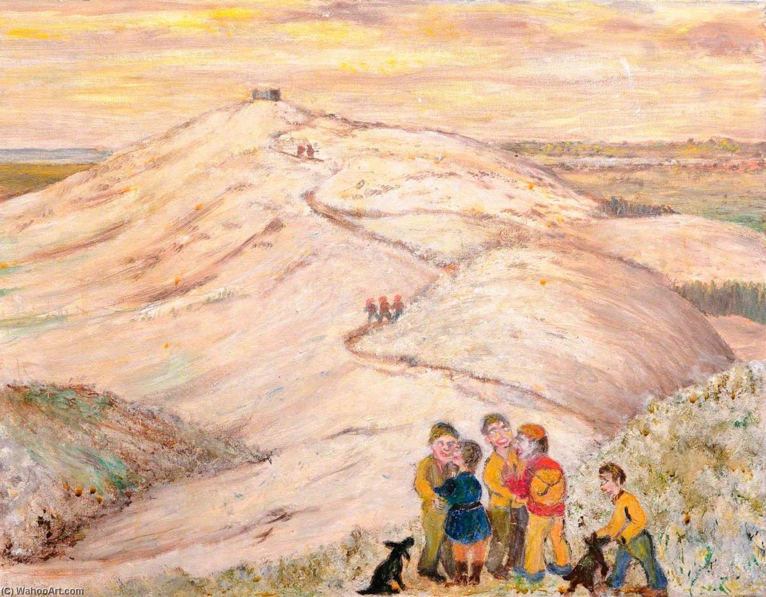 Snow in Late April, 1999, Moel Famau, 'Fancy meetin' you here', Oil On Canvas by James Bentley