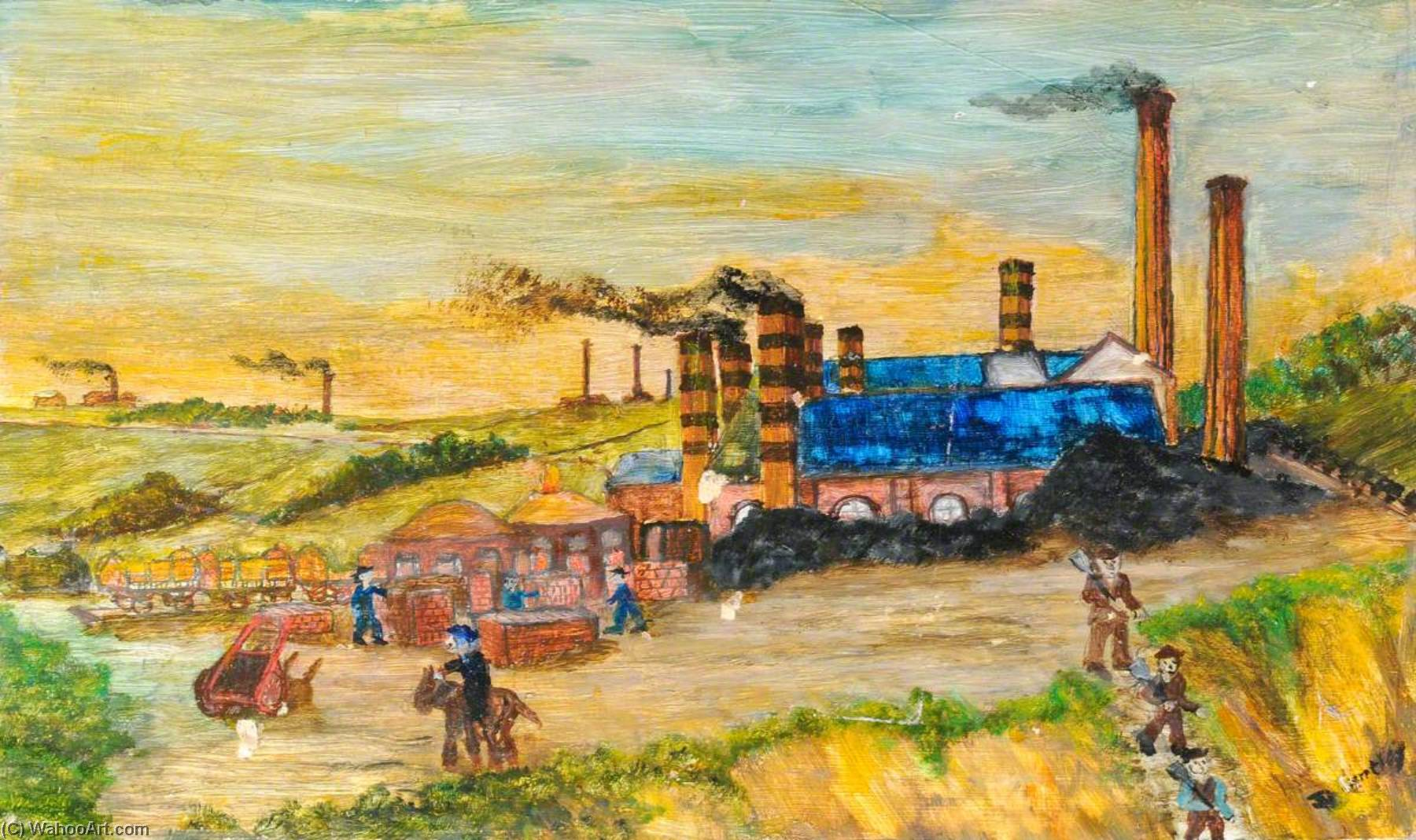 Industrial Buckley by James Bentley | Famous Paintings Reproductions | WahooArt.com